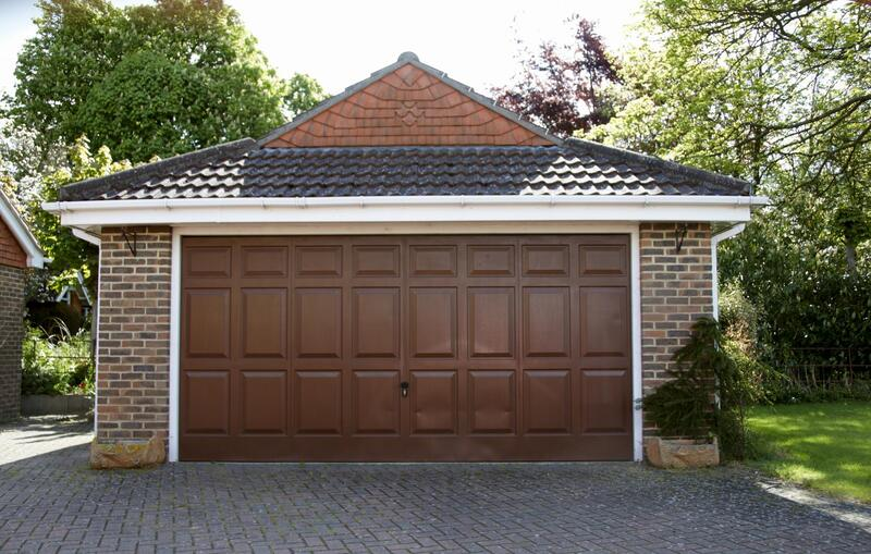 a brown and nice garage